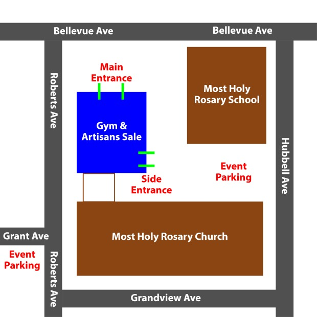 Map of Rosary for Guests